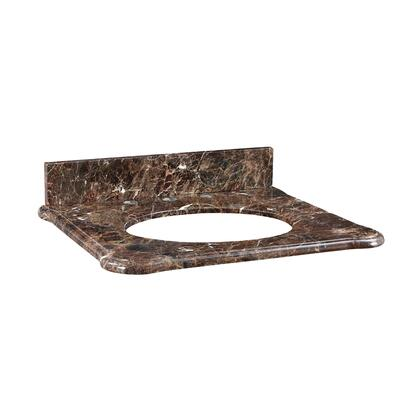 S-MALAGO-24DE Malago 25-inch Stone Top - Dark Emperador Marble for Oval Undermount