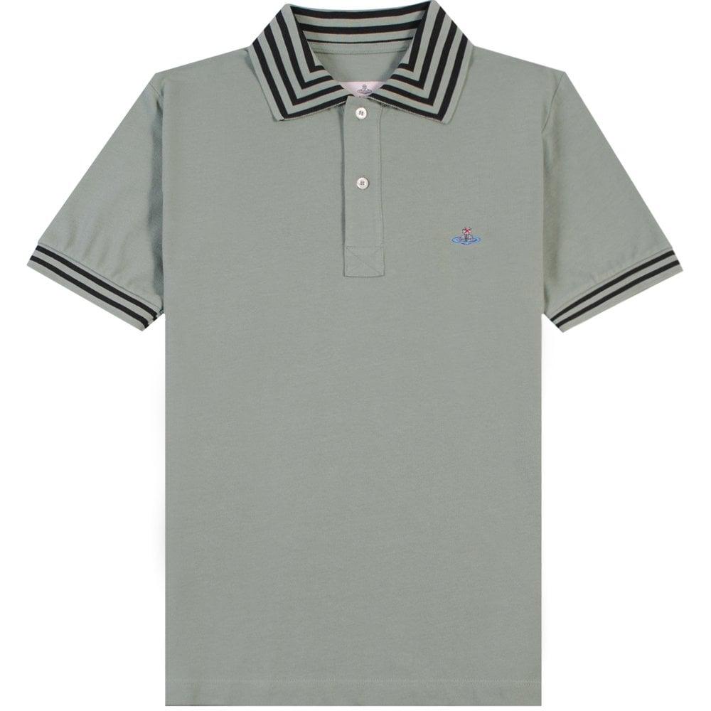 Vivienne Westwood Multi Stripe Polo Colour: GREEN, Size: SMALL