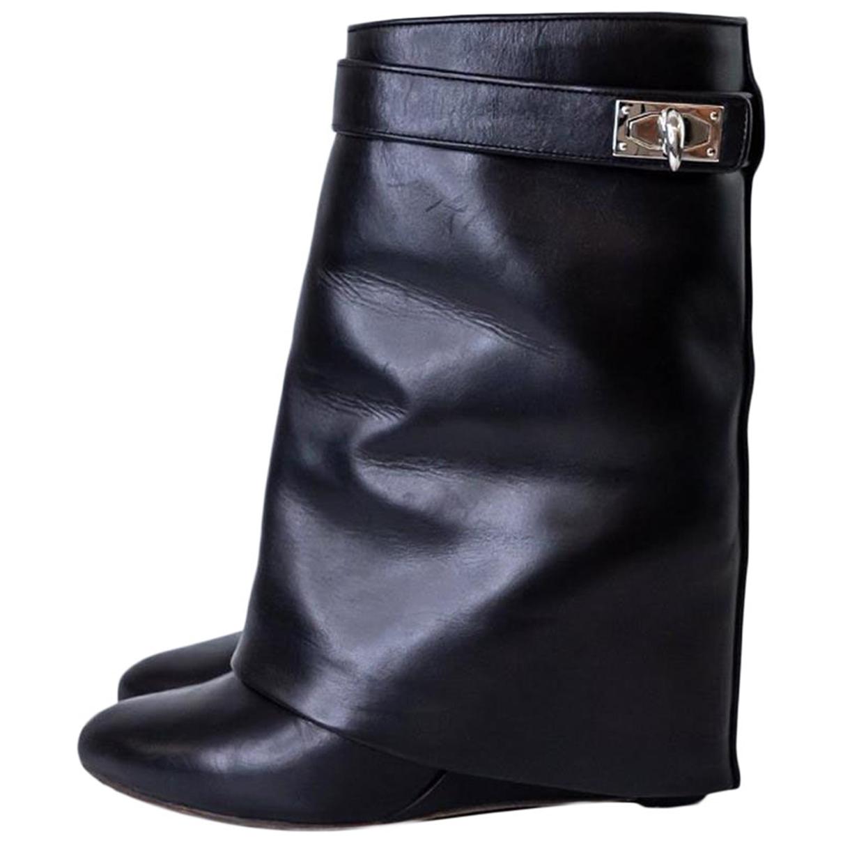 Givenchy - Boots Shark pour femme en cuir - noir