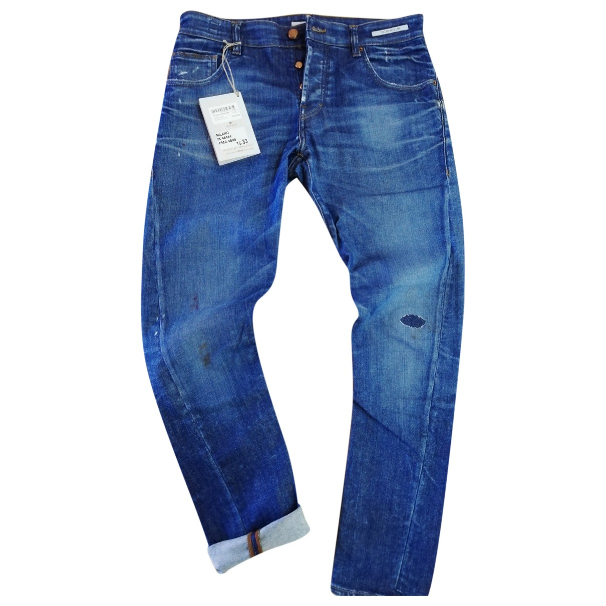 Autre Marque N Blue Cotton - elasthane Jeans for Men 44 FR