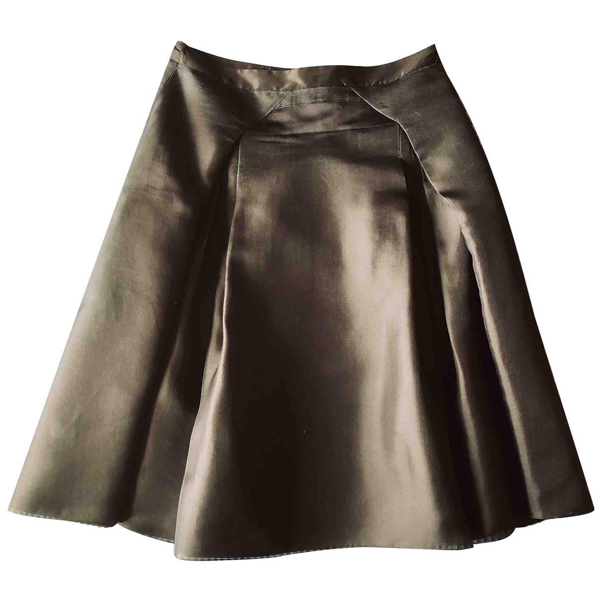 Falda midi de Seda Celine