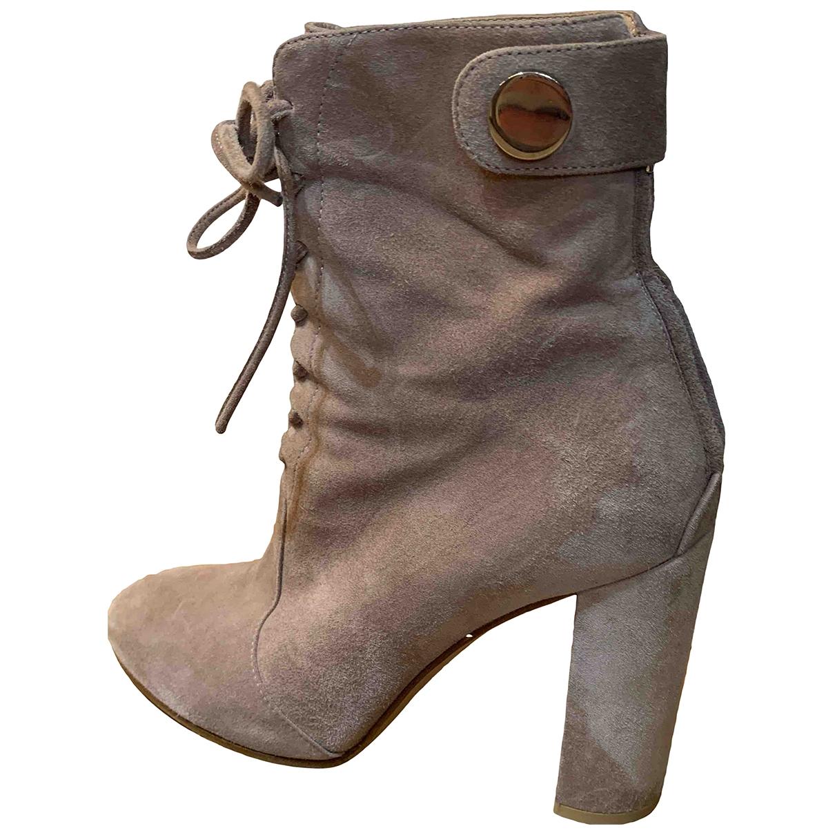 Gianvito Rossi - Boots   pour femme en suede