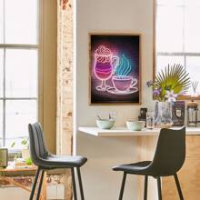 Cup Print Wall Painting Without Frame