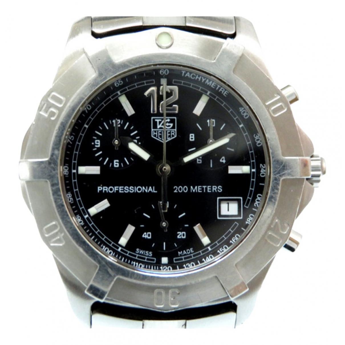 Tag Heuer \N Black Steel watch for Men \N