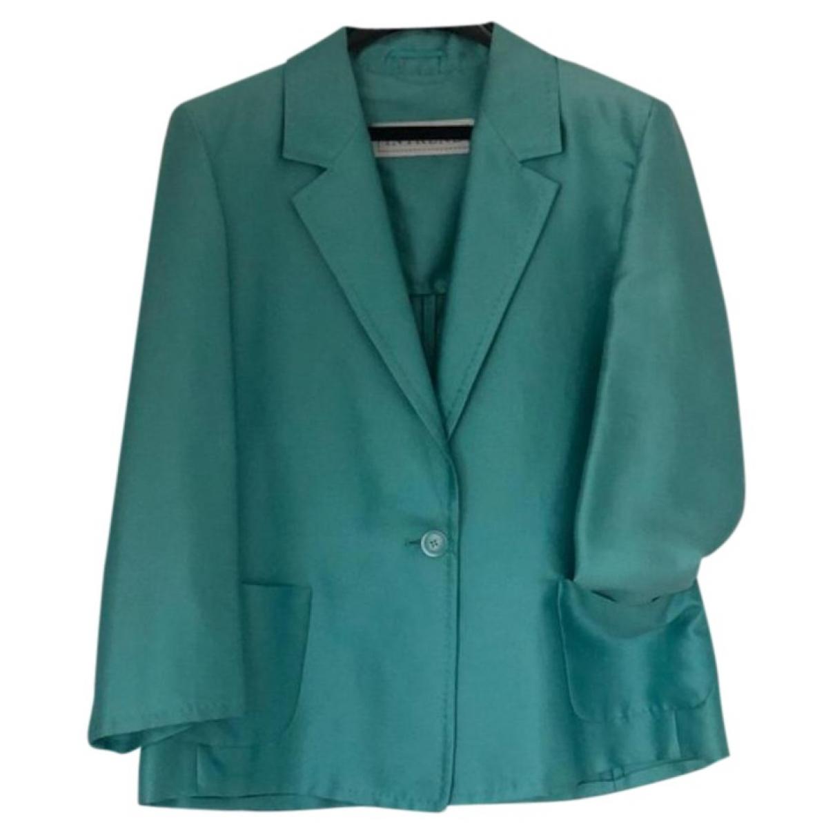 Intrend - Veste   pour femme en coton - turquoise