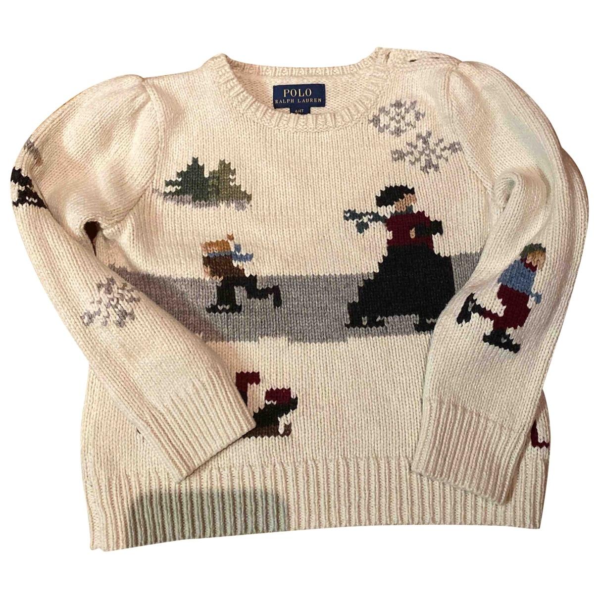 Polo Ralph Lauren - Pull   pour enfant en coton - beige