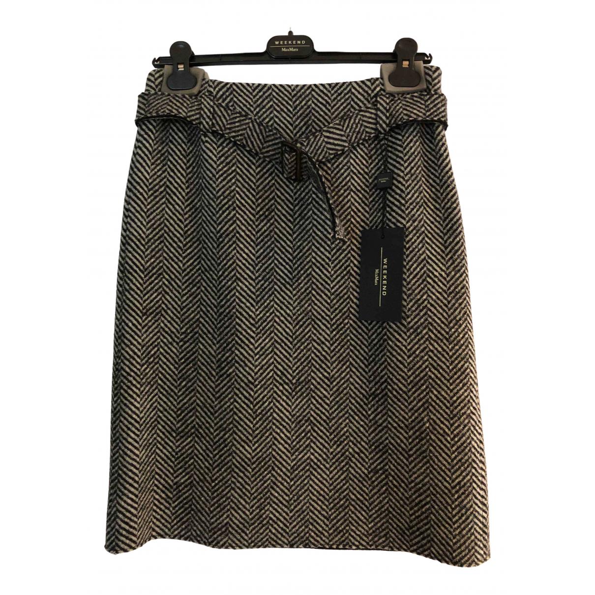 Max Mara Weekend - Jupe   pour femme en laine - gris