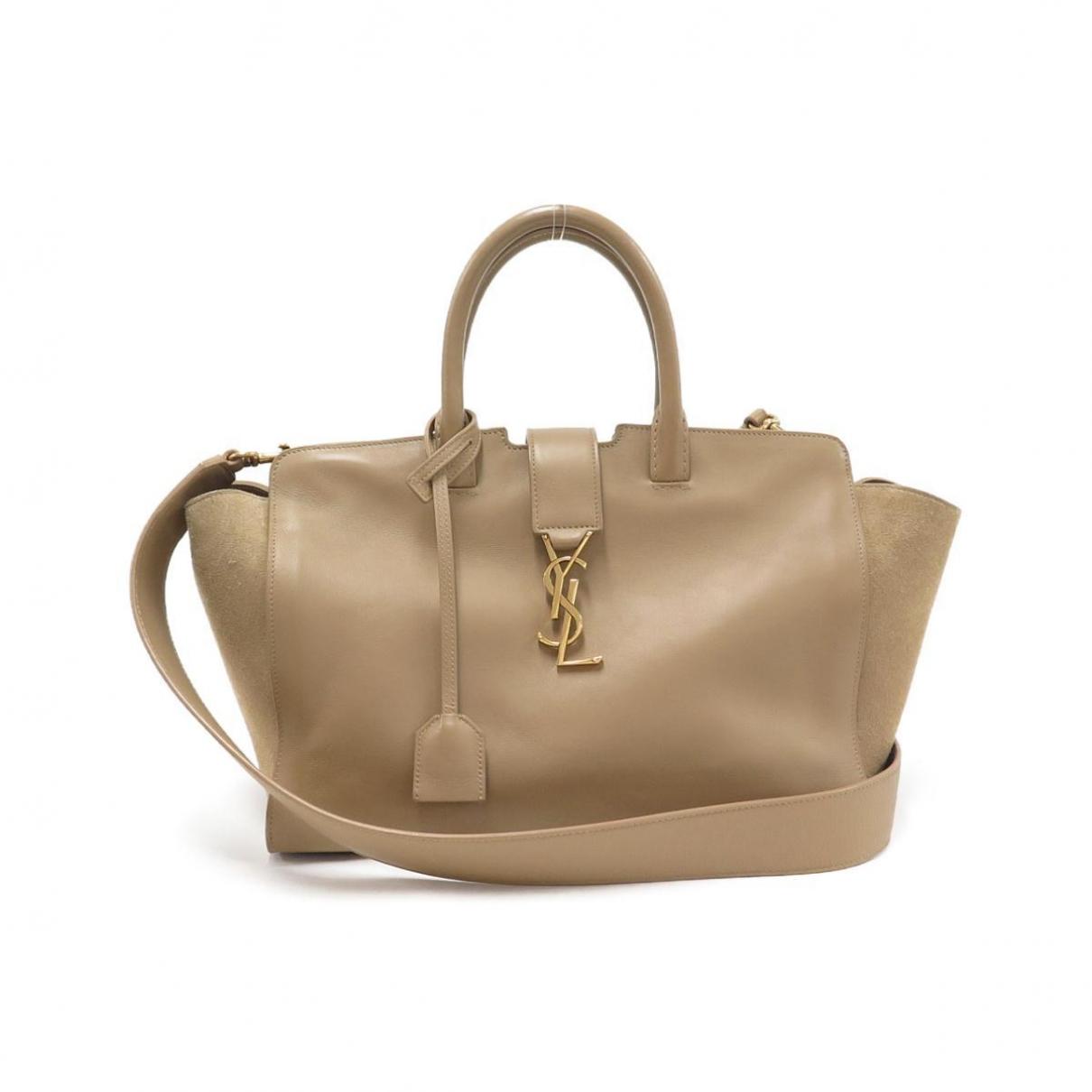 Saint Laurent Downtown Handtasche in  Beige Leder