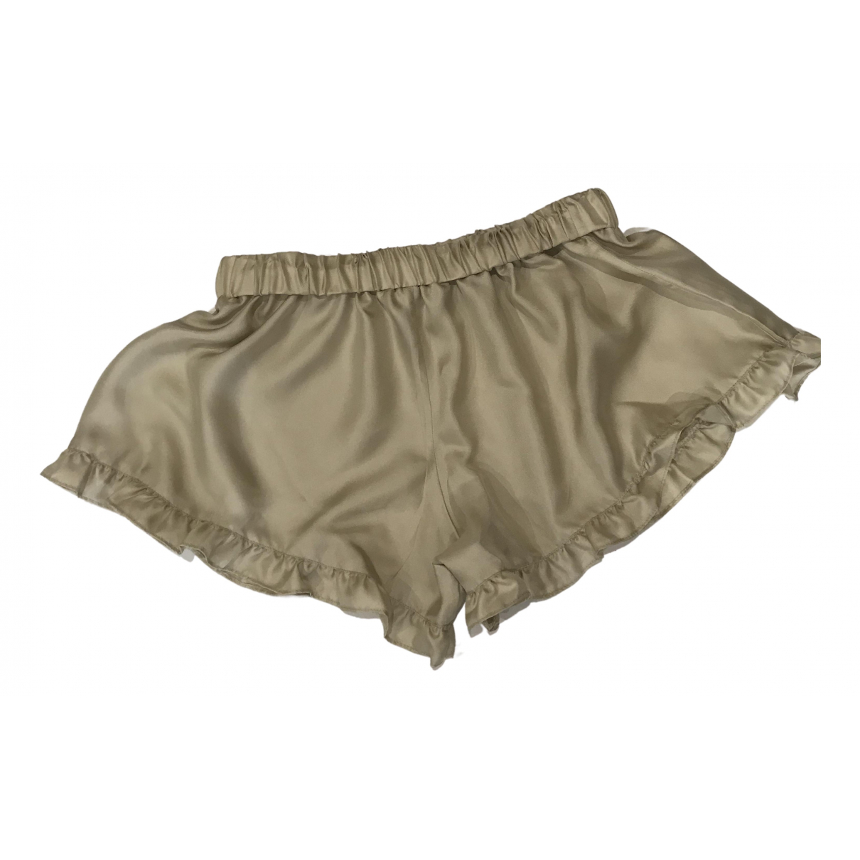Non Signe / Unsigned \N Shorts in  Beige Seide