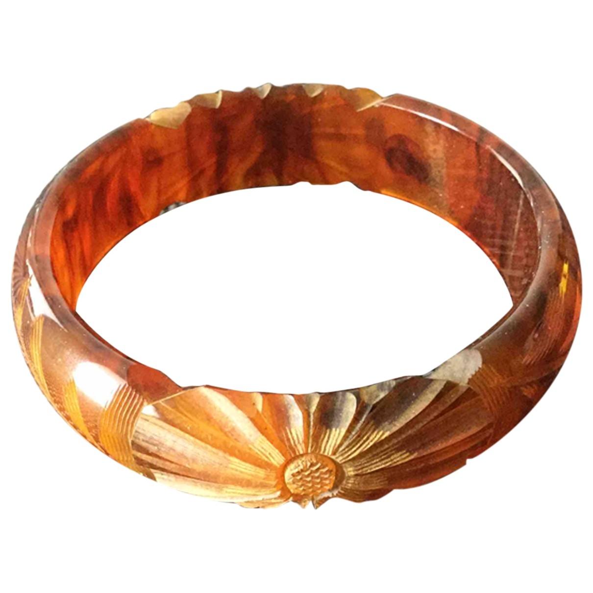 - Bracelet Motifs Floraux pour femme en metal - marron
