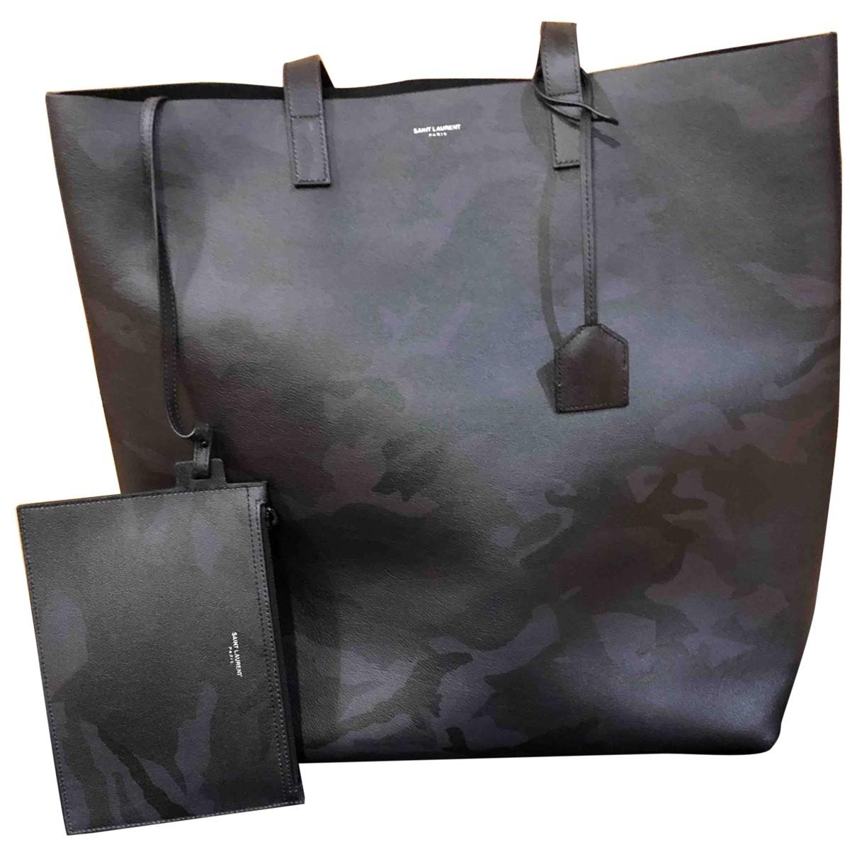 Saint Laurent \N Black Leather bag for Men \N