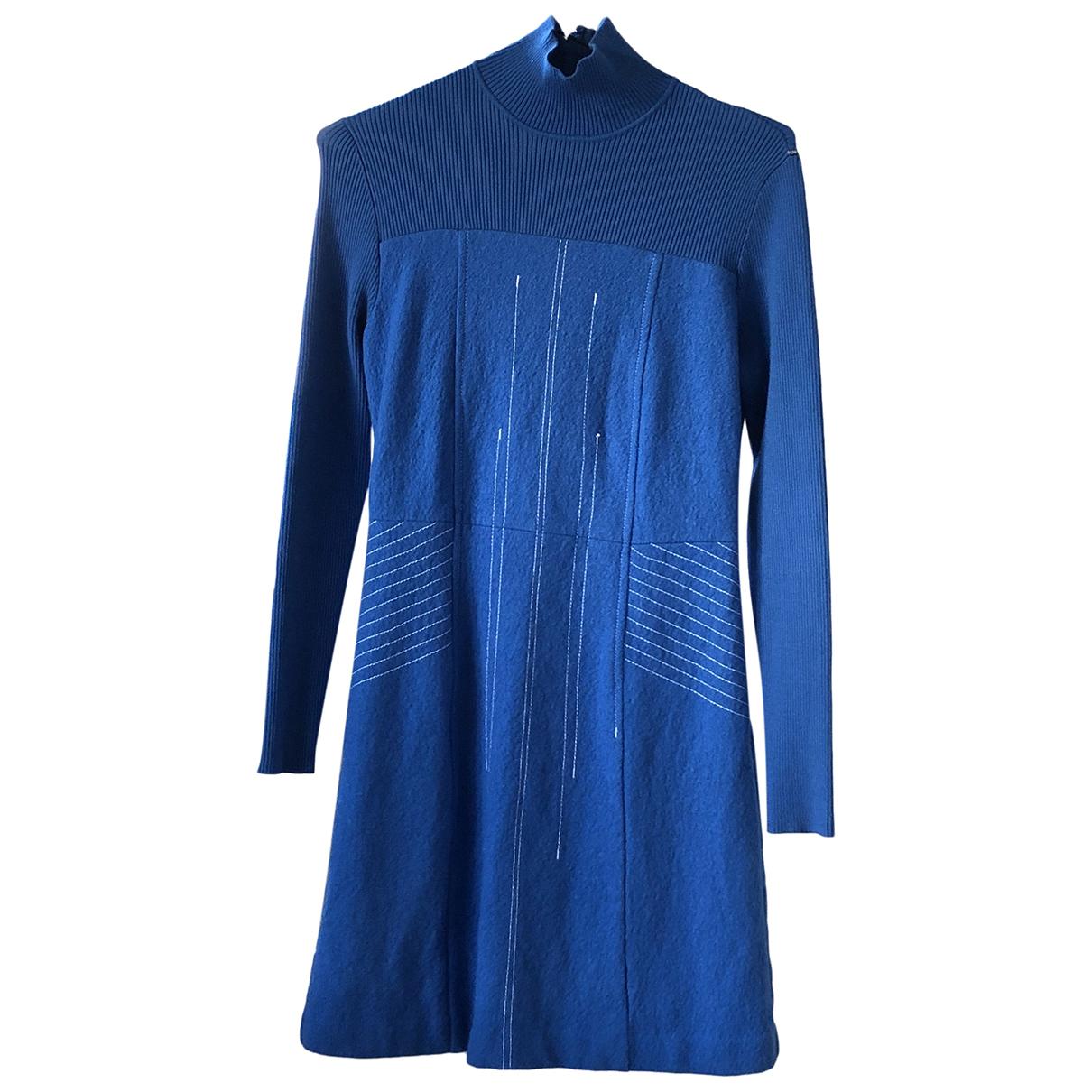 Sport Max \N Kleid in  Tuerkis Wolle
