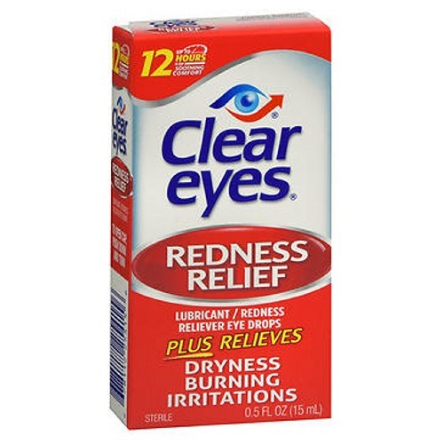 Clear Eyes Redness Relief Lubricant Eye Drops 0.5 oz by Med Tech Products