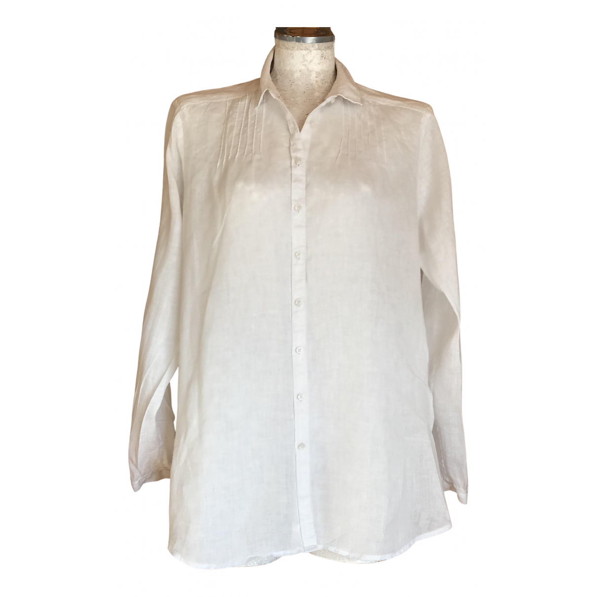 Tommy Hilfiger N White Linen  top for Women 10 US
