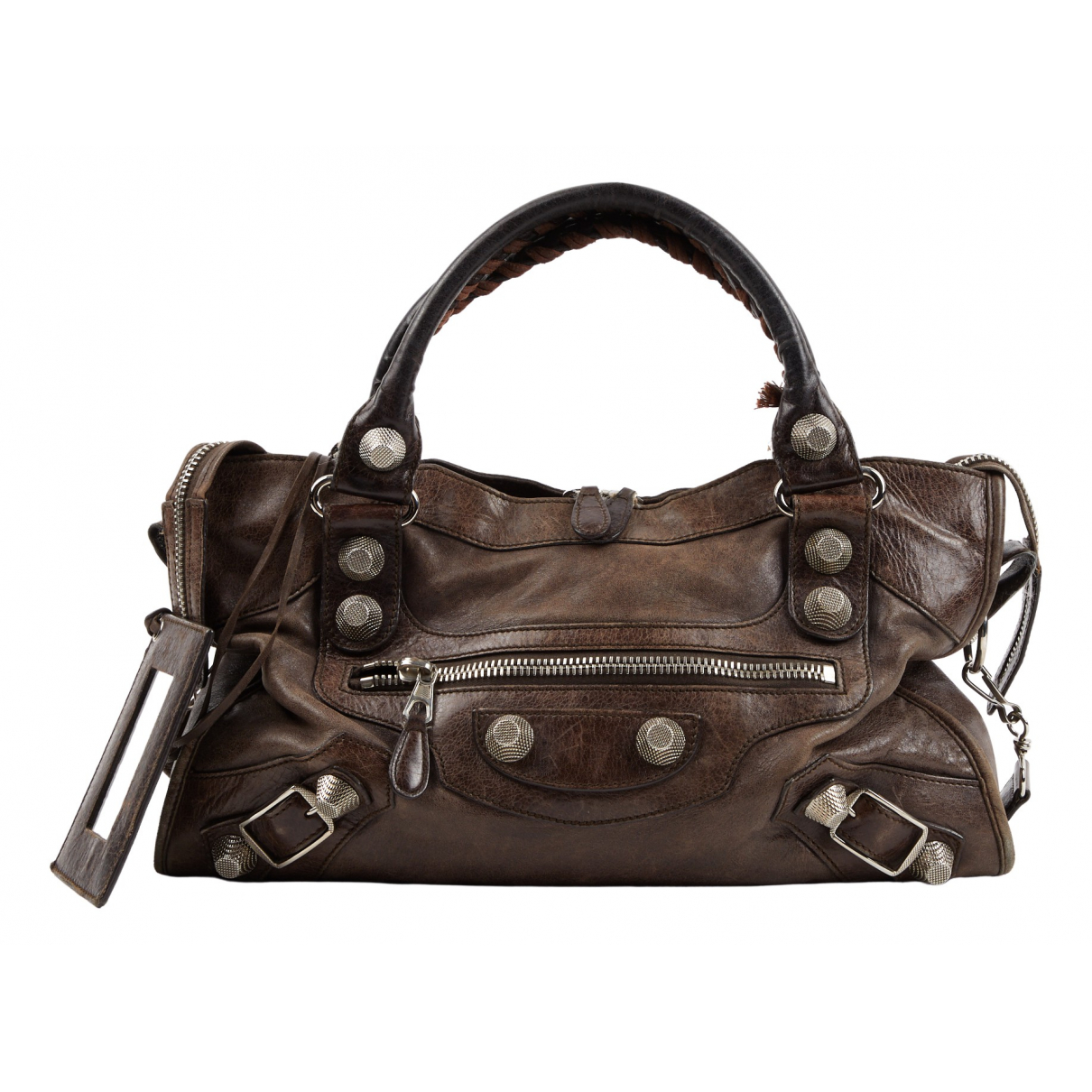 Balenciaga City Brown Leather handbag for Women \N