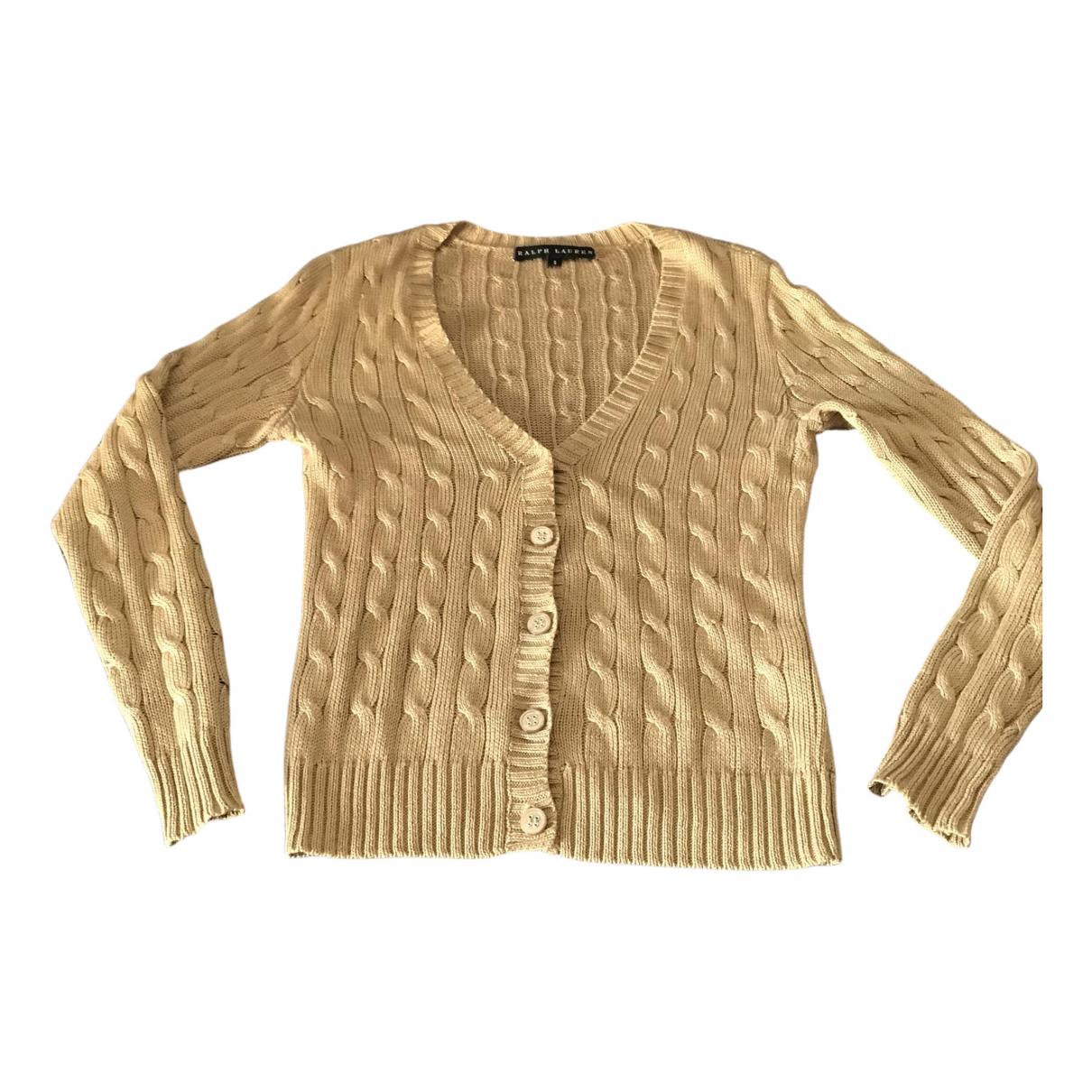 Ralph Lauren \N Pullover in  Kamel Leinen