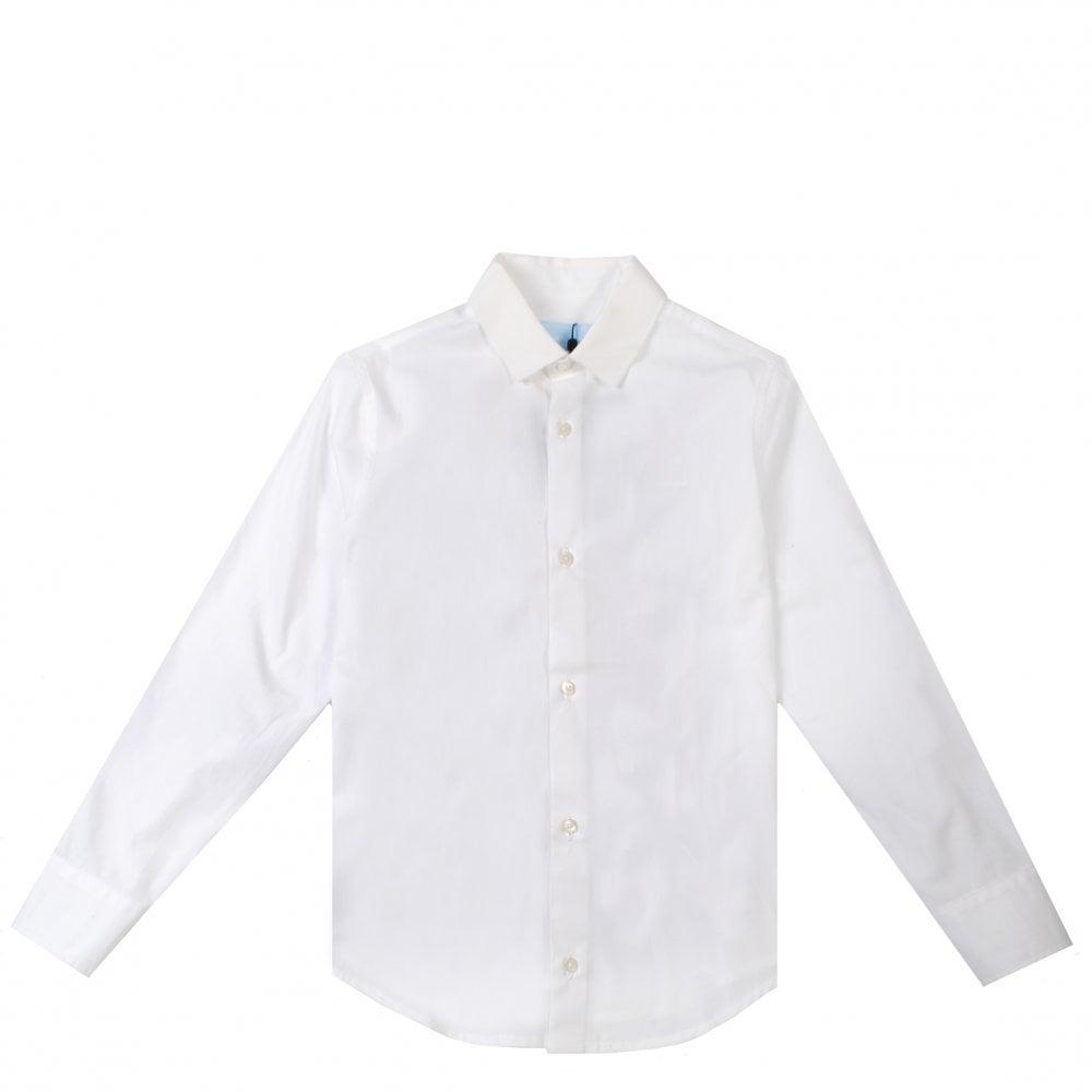 Lanvin Kids Printed Shirt Colour: CREAM, Size: 10 YEARS
