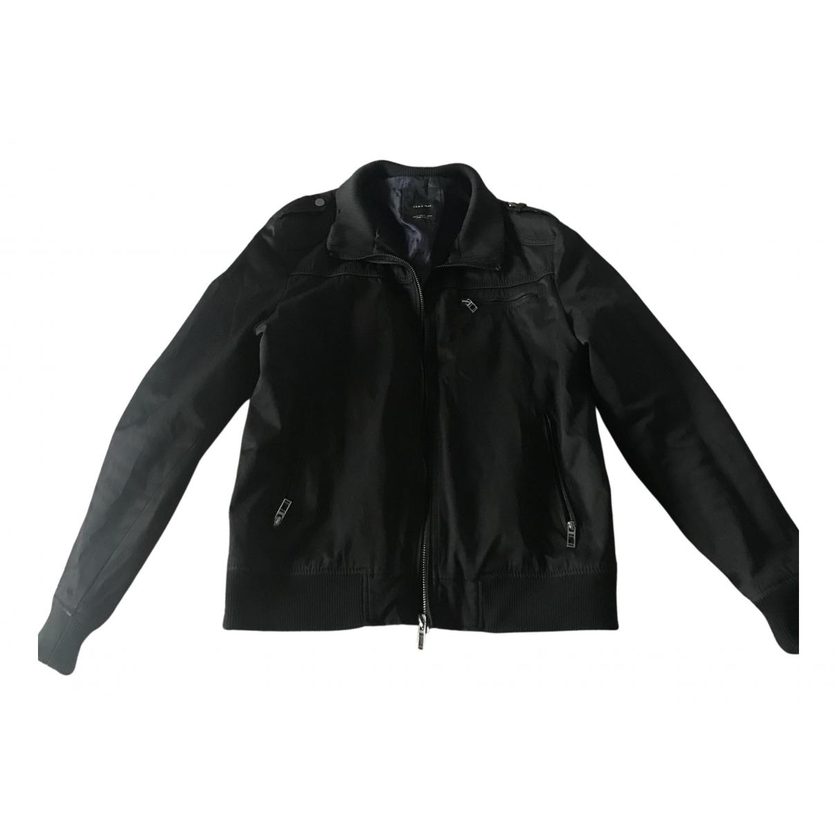 Zara \N Jacke in  Schwarz Polyester