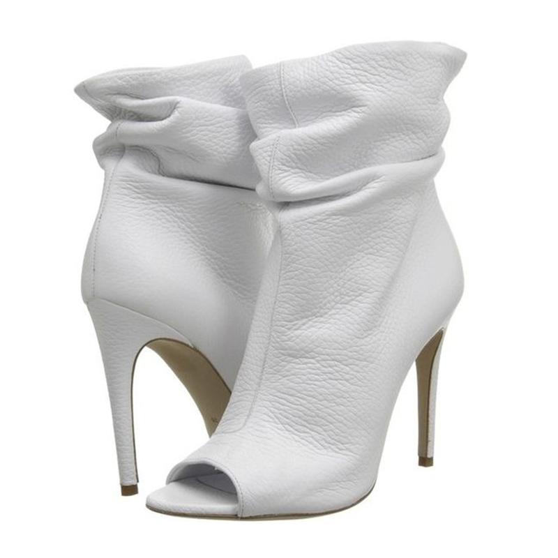 Ericdress Fashion Peep Toe Plain High Heel Boots