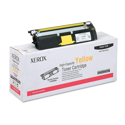 Xerox 113R00694 cartouche de toner originale jaune haute capacite pour l'imprimante Phaser 6120