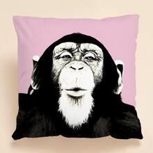 Kissenbezug mit Gorilla Muster ohne Fuelle