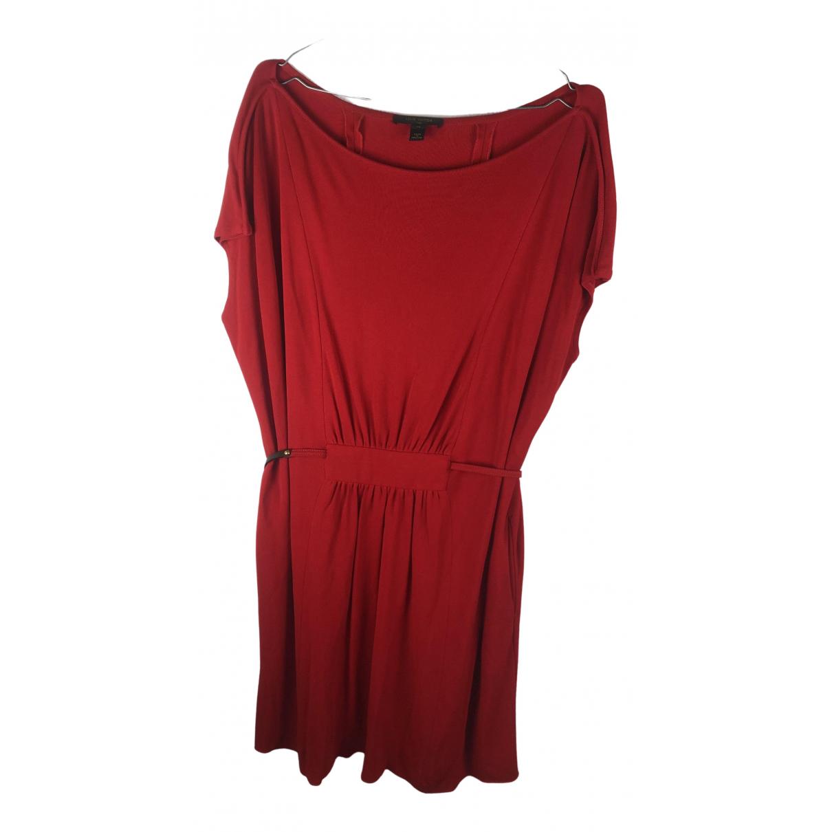 Louis Vuitton - Robe   pour femme en soie - rouge
