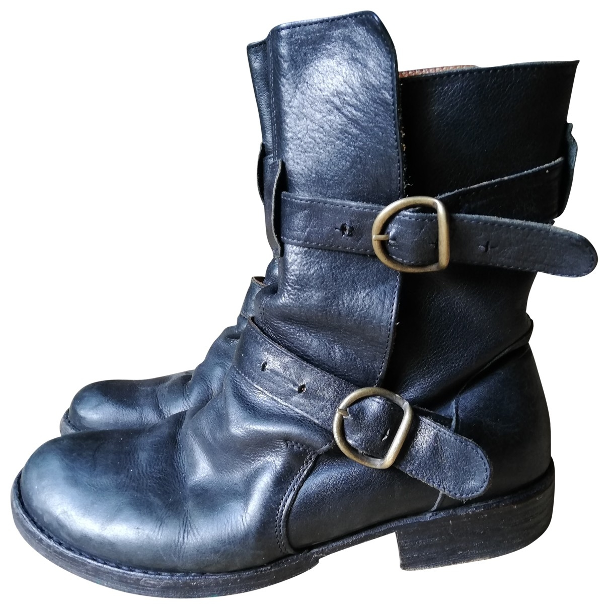 Fiorentini+baker \N Black Leather Ankle boots for Women 39 EU