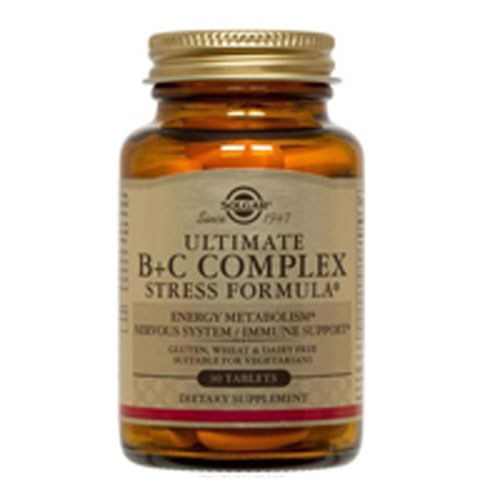 Ultimate B+C Complex Stress Formula Tablets 90 Tabs by Solgar