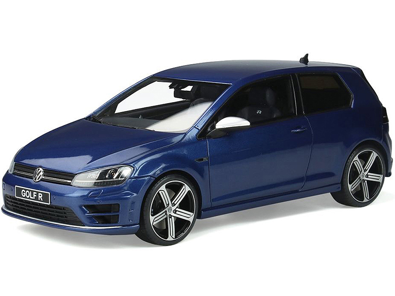 Volkswagen Golf 7R Coupe Lapiz Blue Metallic 1/18 Model Car by Otto Mobile