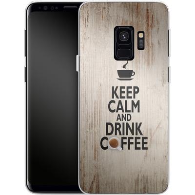 Samsung Galaxy S9 Silikon Handyhuelle - Drink Coffee von caseable Designs