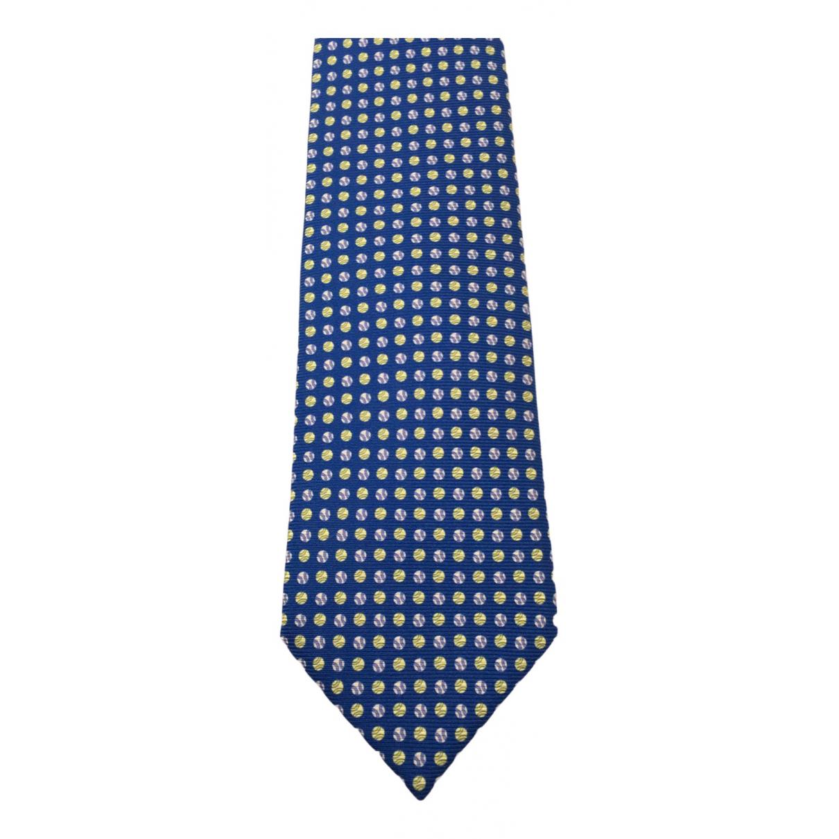 Borrelli - Cravates   pour homme en soie - bleu