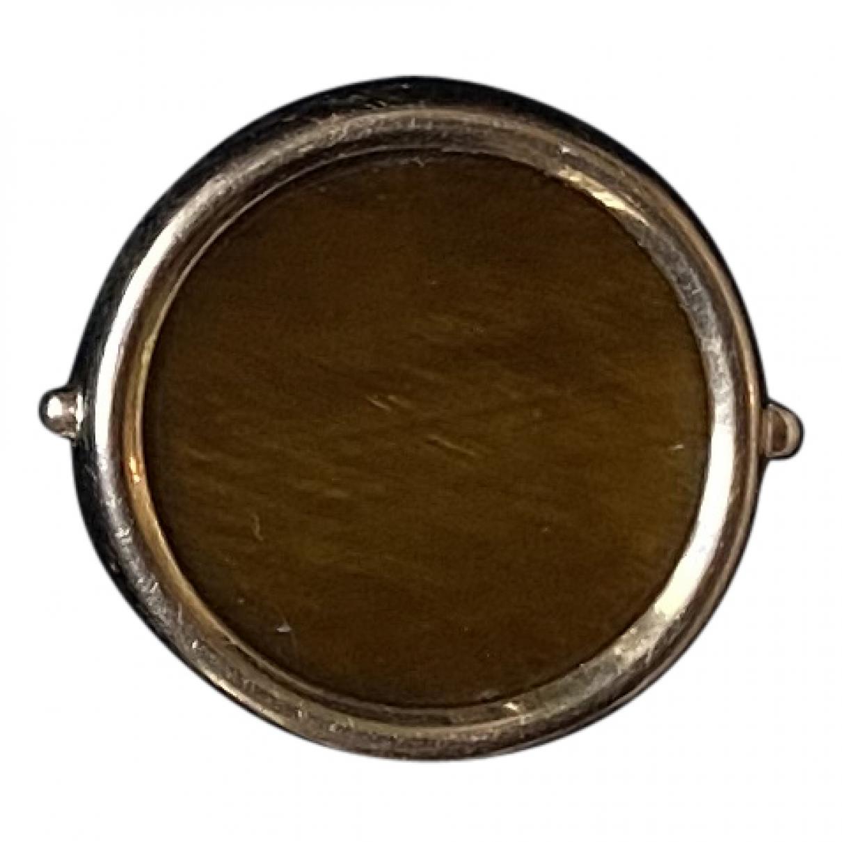 Ginette Ny - Bague Discs pour femme en or rose - marron
