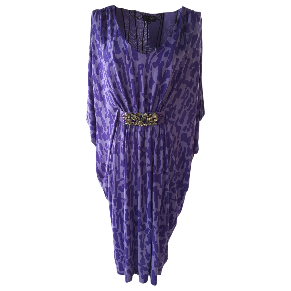 Escada \N Purple Cotton - elasthane dress for Women 32 FR