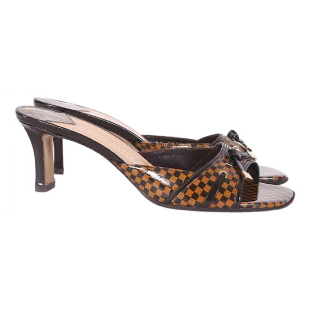Louis Vuitton \N Brown Patent leather Sandals for Women 38 EU
