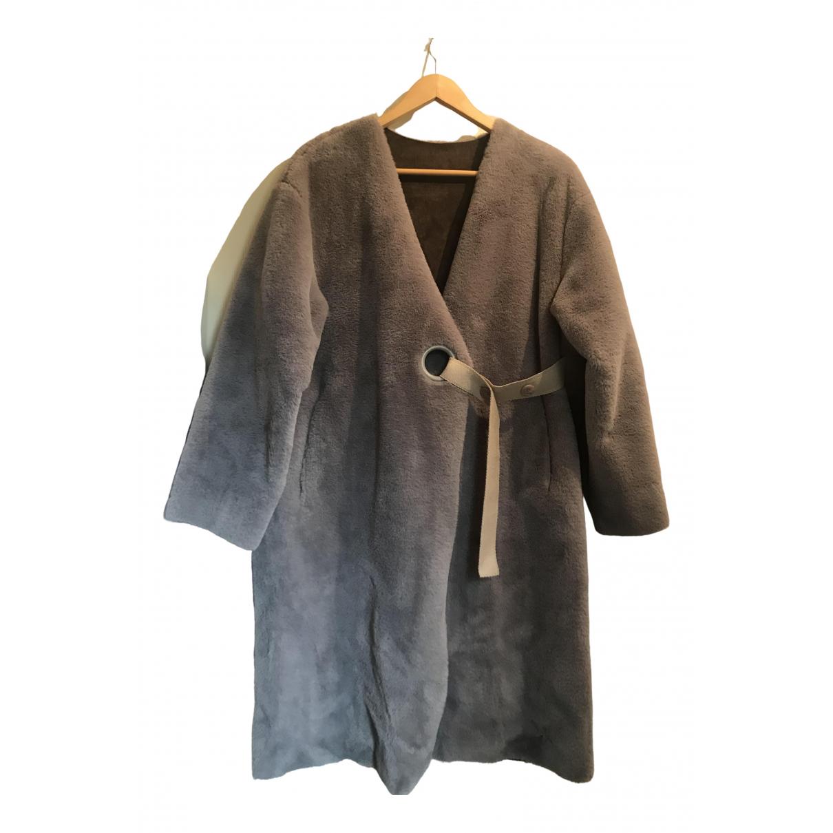 The Frankie Shop \N Grey Faux fur coat for Women One Size FR