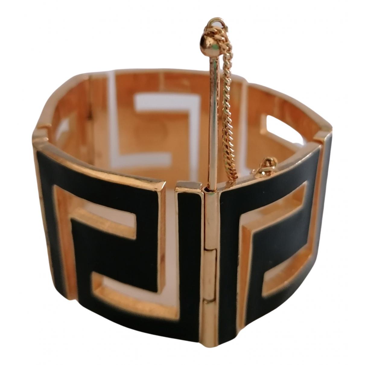 Versace \N Armband in  Schwarz Metall