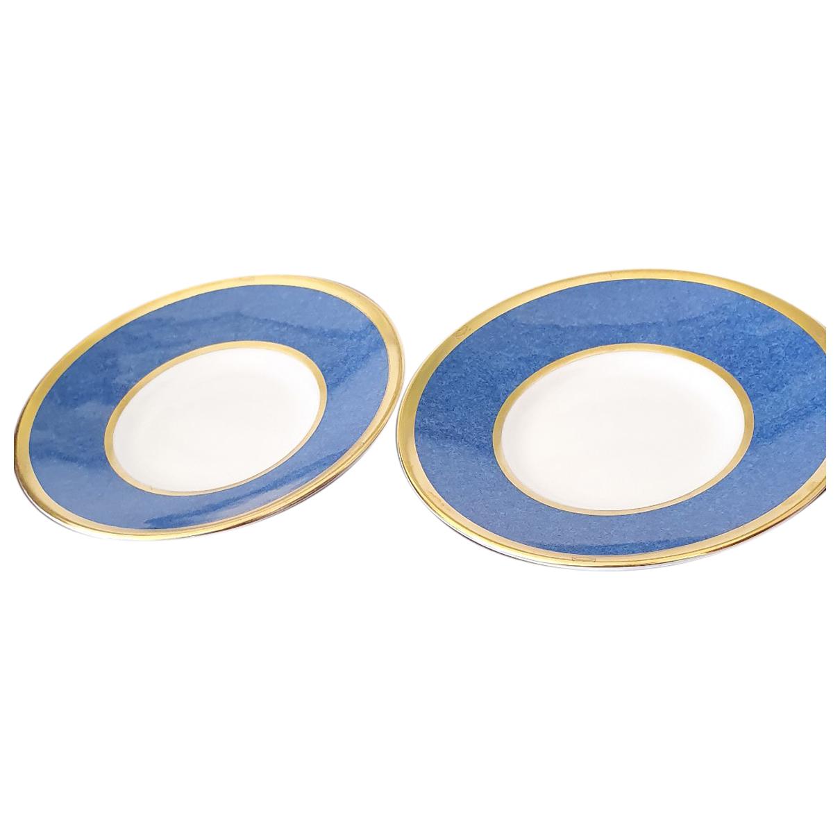 Cartier \N Tischkultur in  Blau Porzellan