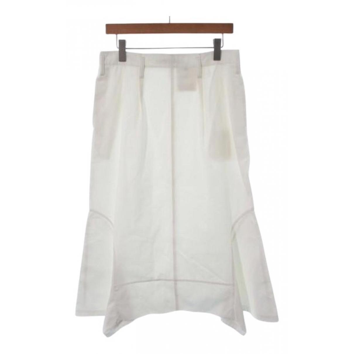 Comme Des Garcons - Jupe   pour femme en coton - blanc