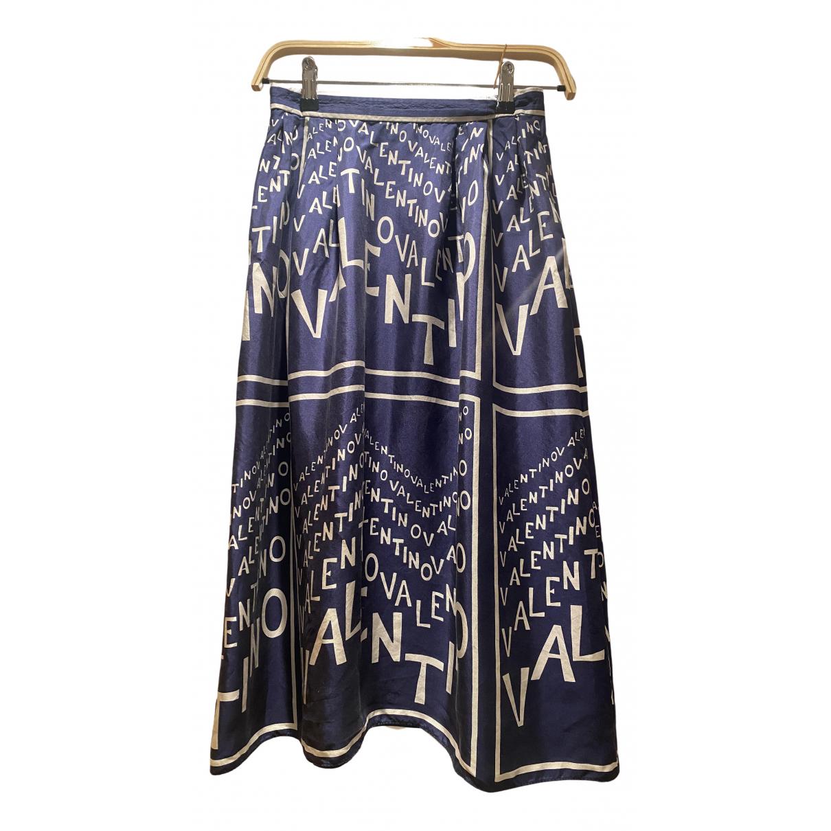 Falda midi de Seda Valentino Garavani