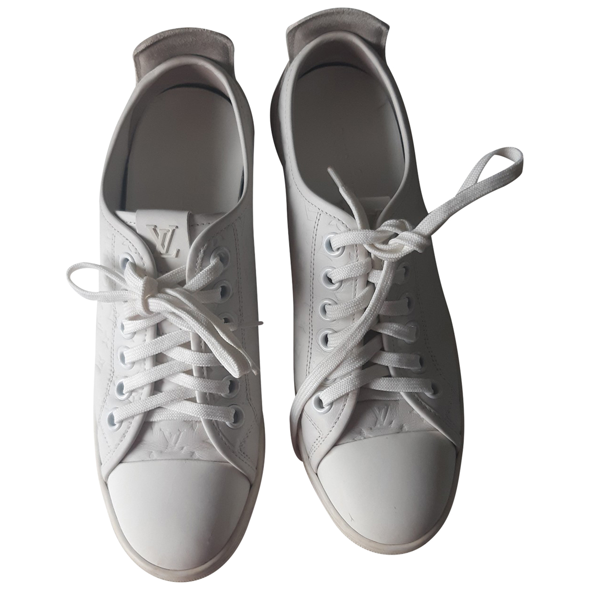 Louis Vuitton FrontRow Sneakers in  Weiss Leder