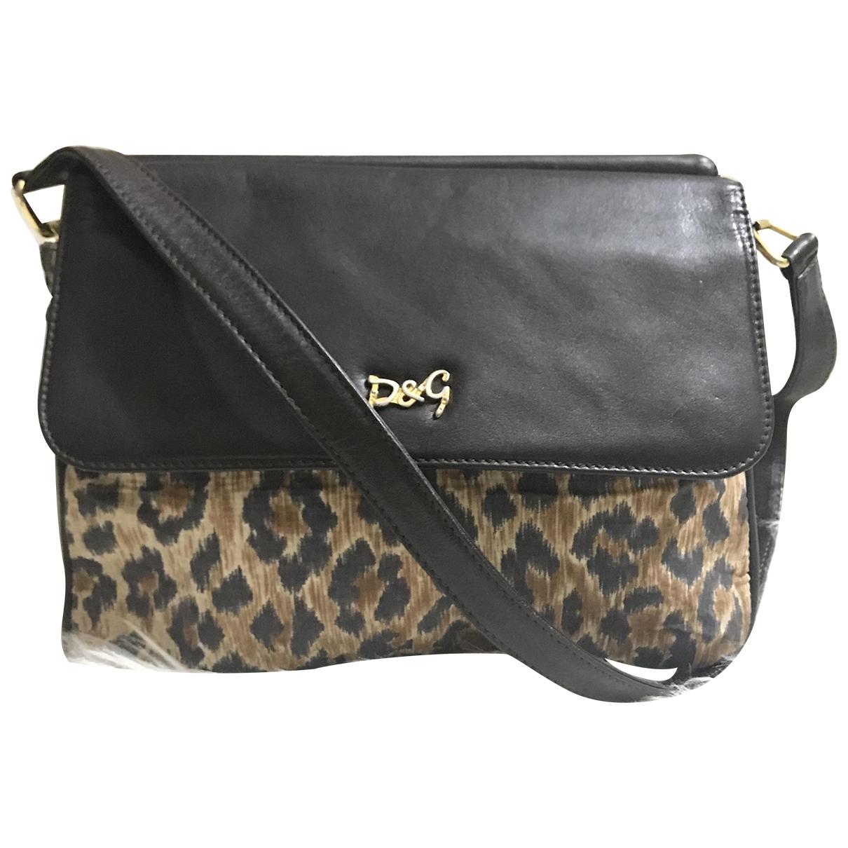D&g \N Handtasche in  Braun Leinen