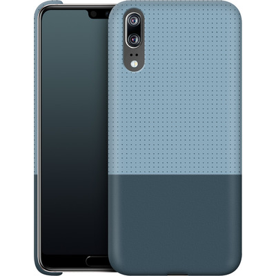 Huawei P20 Smartphone Huelle - Dot Grid Blue von caseable Designs