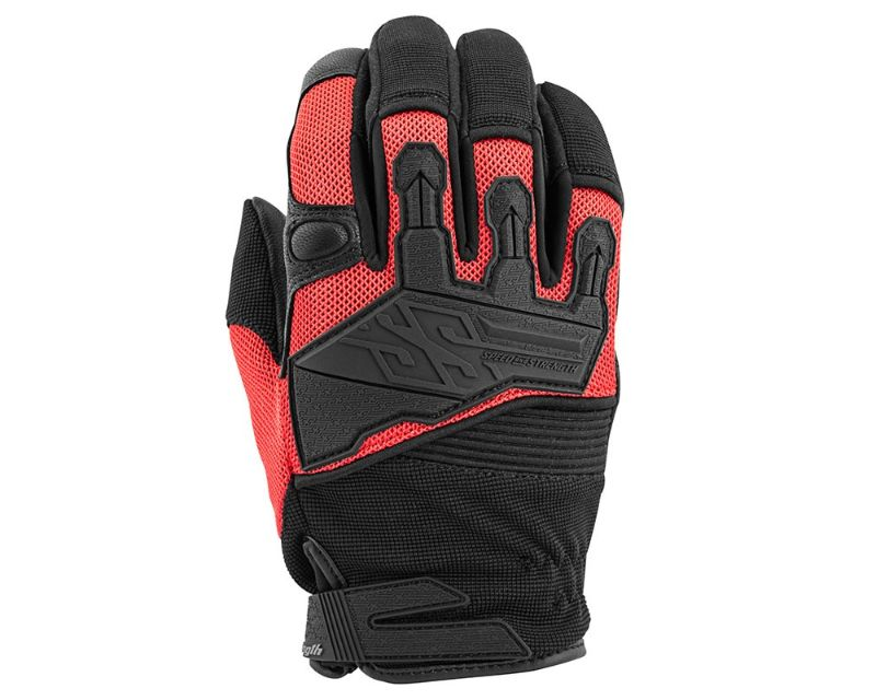 Speed and Strength 872279 Hammer Down Gloves Red MD