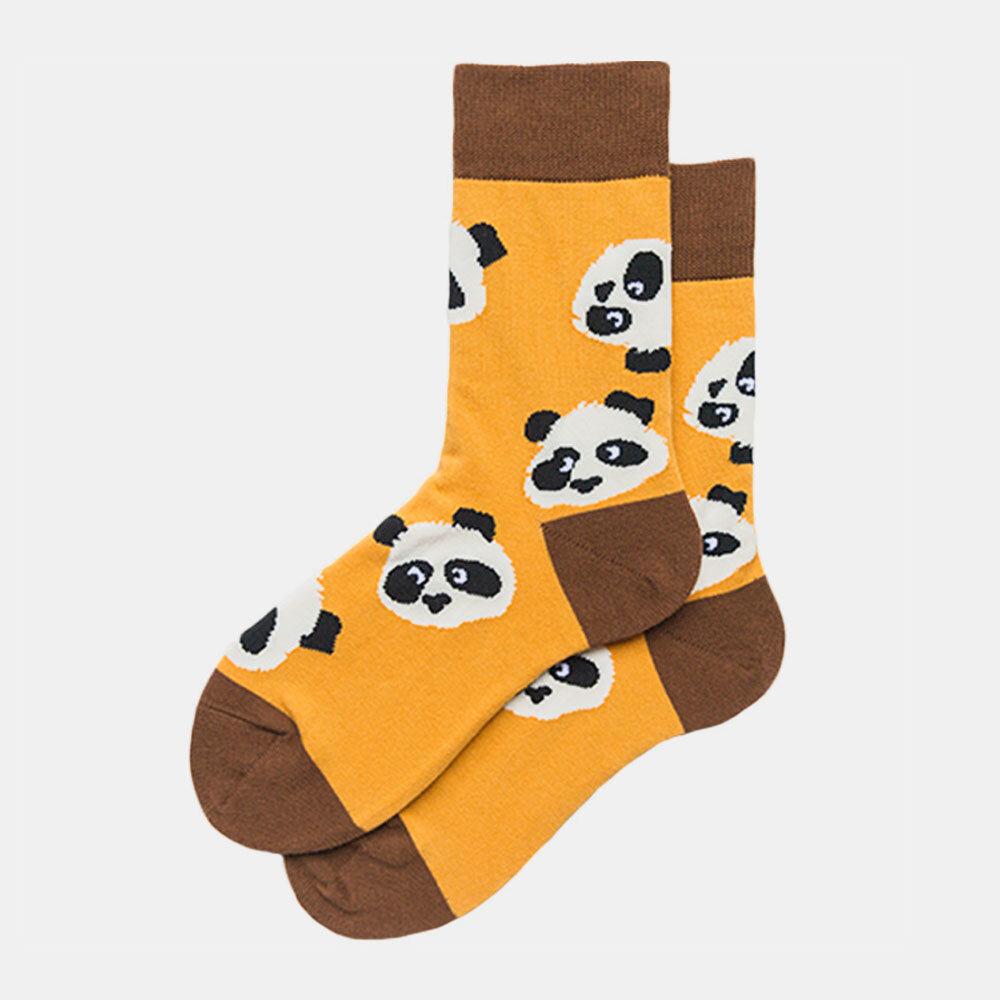 Panda Tide Socks Men And Women With The Same Street Creative Sweat-Absorbent Couple On The Street Socks