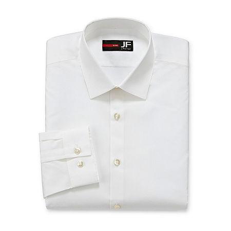 JF J.Ferrar Easy- Care Stretch Mens Long Sleeve Dress Shirt, 17-17.5 32-33, White