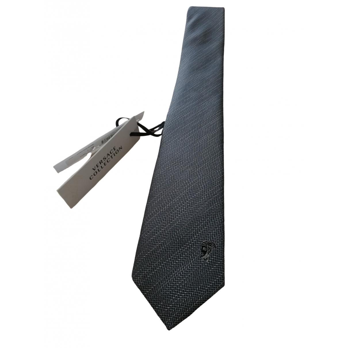 Versace \N Grey Silk Ties for Men \N