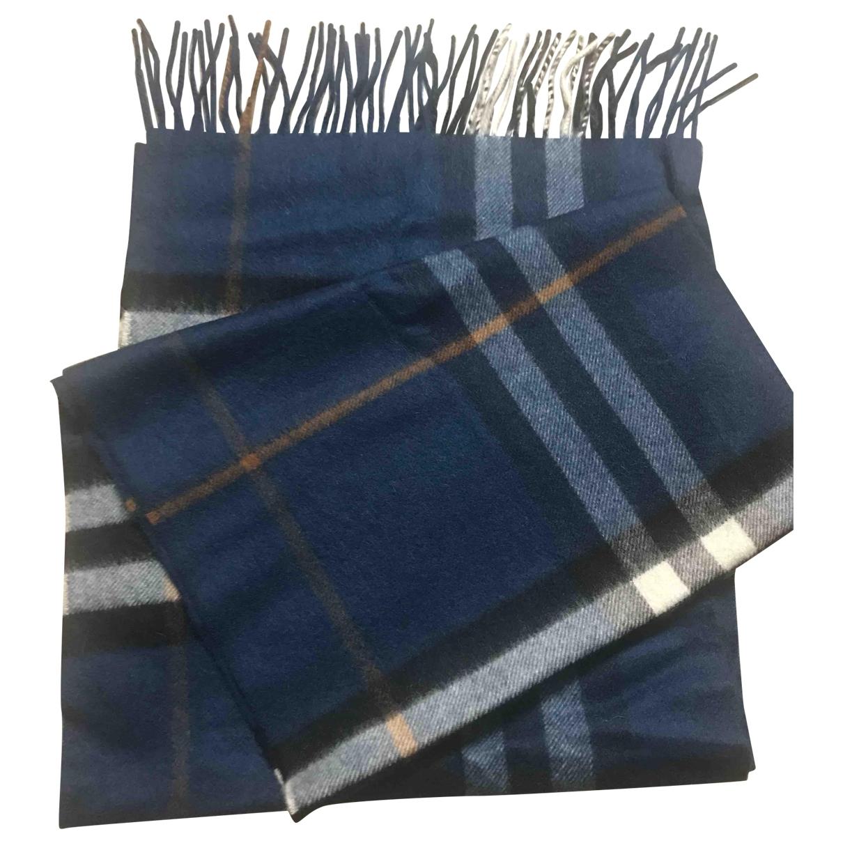 Burberry \N Blue Cashmere scarf & pocket squares for Men \N