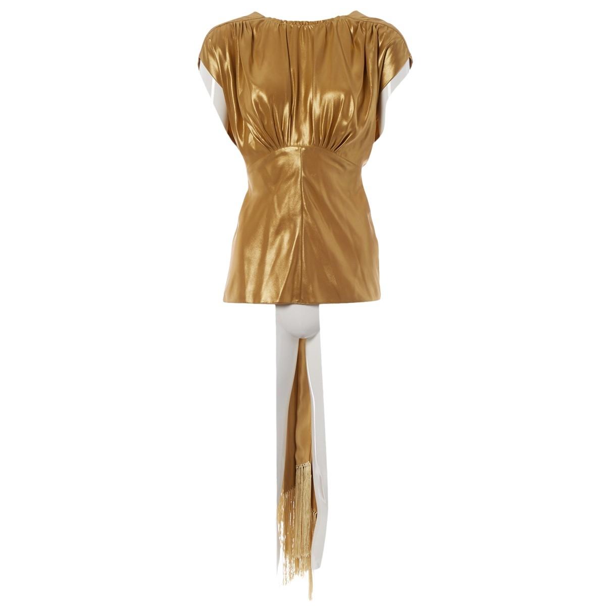 Hillier Bartley - Top   pour femme en soie - dore