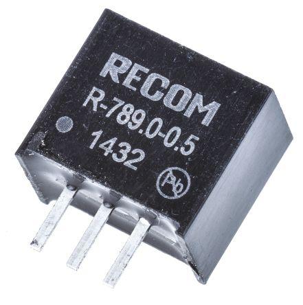 Recom Through Hole Switching Regulator, 9V dc Output Voltage, 11 → 32V dc Input Voltage, 500mA Output Current
