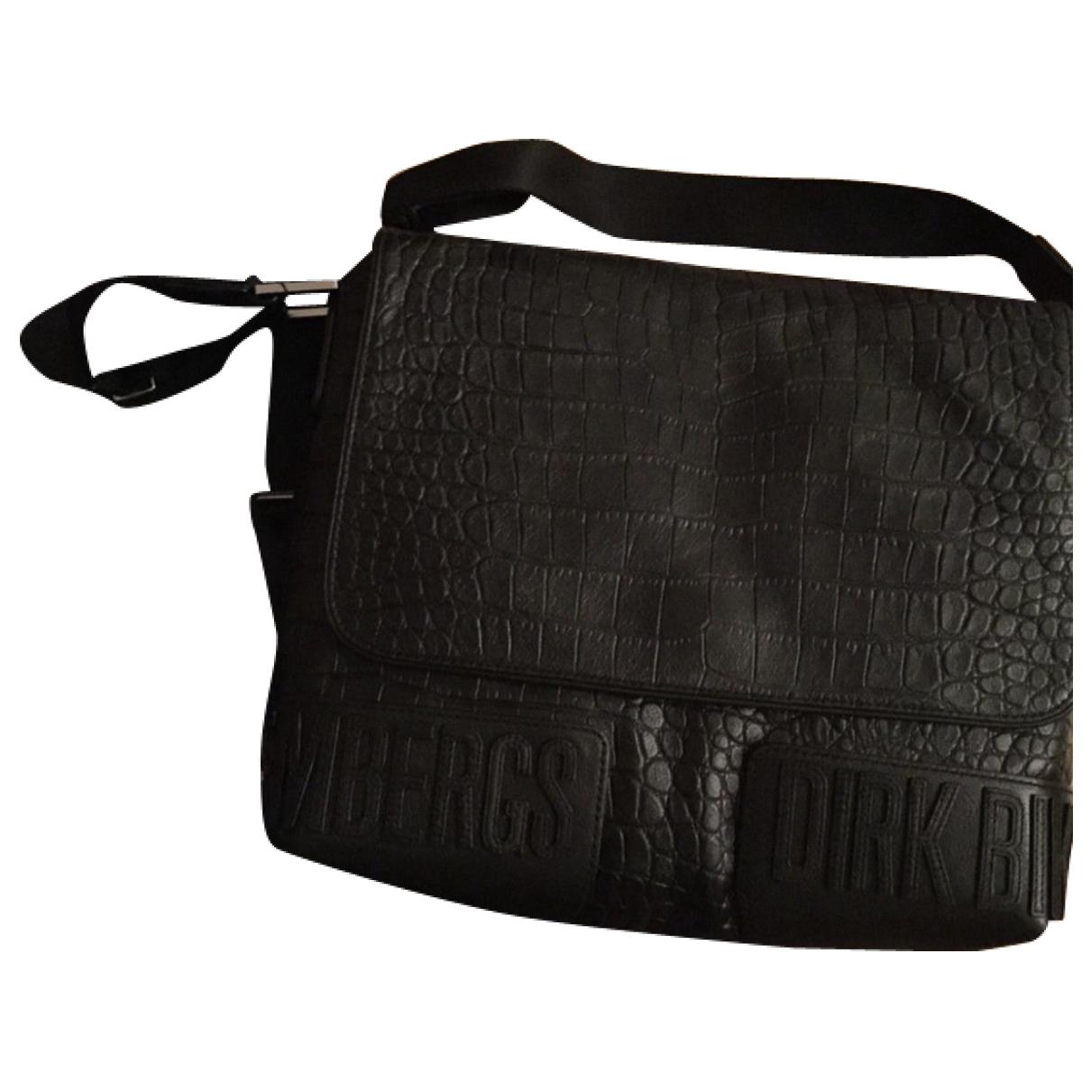 Dirk Bikkembergs \N Black Leather bag for Men \N
